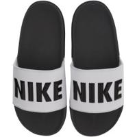 Chinelo Nike Offcourt - Slide - Masculino - Cinza Escuro/Branco