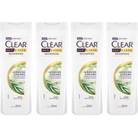 Kit Shampoo Anticaspa Clear Women Alívio Da Coceira 200Ml 4 Unidades - Feminino-Incolor
