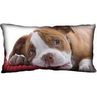 Almofada Impressão Digital Marrom Cachorro Boxer 20X40Cm