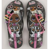 Chinelo Infantil Ipanema Lol Surprise Preto