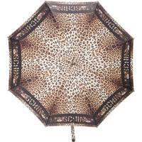 Moschino Guarda Chuva Com Estampa Leopardo - Preto
