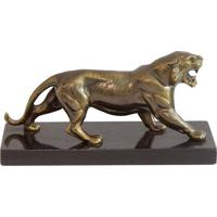 Escultura Leao De Bronze - 20X10