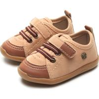 Sapato Pimpolho Menino Liso Caramelo