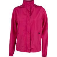 Jaqueta Impermeável Corta-Vento Com Capuz Nord Outdoor Winter - Feminina - Rosa Escuro