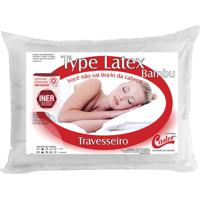 Travesseiro Type Latex- Branco- 16X65X45Cm- Castcastor