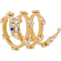 Giuseppe Zanotti Embellished Spiral Bracelet - Dourado