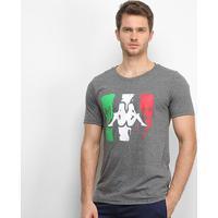 Camiseta Kappa Italian Masculina - Masculino-Chumbo