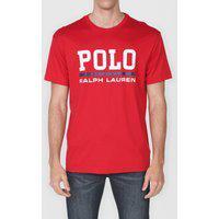 Camiseta Polo Ralph Lauren Lettering Vermelha