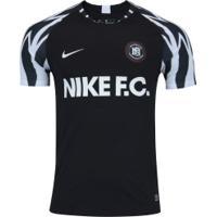 Camiseta Nike F.C. Ss Home - Masculina - Preto Branco 23916a0da874f