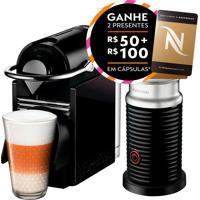 Máquina De Café Nespresso Combo Pixie Clips: Personalizável Ao Seu Estilo, Com 2 Pares De Painéis Trocáveis; Prepara Cappuccino/Latte Macchiato