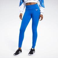 Calça Legging Reebok Logo Vector Feminina - Feminino-Azul