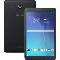 """Tablet Samsung Galaxy Tab E Sm-T561, Tela 9.6"""", Processador Quad-Core 1.3Ghz, 8Gb, Android 4.4, Wifi + 3G, Câmera Traseira 5.0 Mp - Preto"""