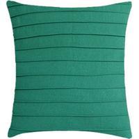 Capa Para Almofada Drapeada- Verde- 45X45Cm- Sansanta Luzia
