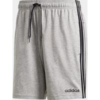Short Adidas E 3S Sj Masculino - Masculino-Cinza+Preto