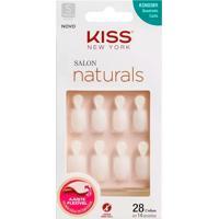 Unhas Postiças Kiss New York Salon Naturals Tamanho Quadrado Curto Ksno3Br Com 28 Unidades