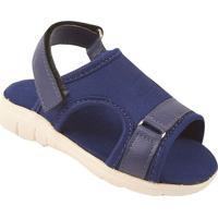 Papete Com Velcro- Azul Marinho- Kids- Bambinibambini
