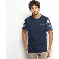 Camiseta Hd Especial Full Prin Masculina - Masculino-Marinho