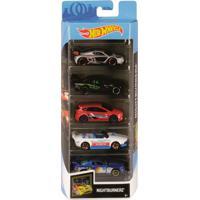 Pack 5 Carrinhos Hot Wheels Nightburnerz - Mattel - Kanui
