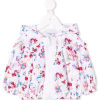 Monnalisa Little Mermaid Printed Coat - Rosa
