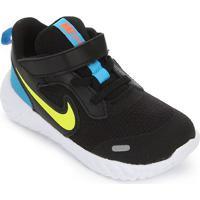 Tênis Infantil Nike Revolution 5 Tdv - Unissex-Preto+Verde