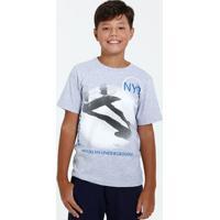 Camiseta Juvenil Manga Curta Estampa Marisa