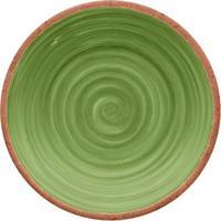 Prato Para Sobremesa Rústico- Verde & Laranja- 2Xø22Hudson