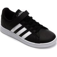 Tênis Infantil Adidas Grand Court C Velcro - Unissex-Preto+Branco