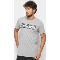 Camiseta Adidas E Lin Aop Box T Masculina - Masculino-Cinza