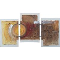 Quadro Artesanal Com Textura Abstrato Ii Colorido Uniart