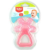 Mordedor Para Bebê Buba Gelado Com Água Chocalho Rosa