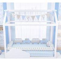 Kit Montessoriano Azul Carrinhos 11Pçs Gráo De Gente Azul