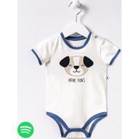 Body Infantil Estampa De Cachorro - Tam 0 A 18 Meses
