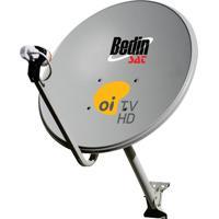 Antena Bedin Sat 60Cm Com MultipontoDecoder E Cabos Cromus