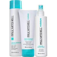 Kit Paul Mitchell Moisture Sh.300Ml Cond.200Ml E Leave In Awapuhi250Ml - Unissex-Incolor
