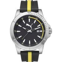 Netshoes  Relógio Masculino Puma Analogico - Unissex-Preto+Amarelo dc35b1caa8