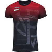 Camisa Do Vitória Aquecimento 2018 Topper - Masculina - Preto/Vermelho