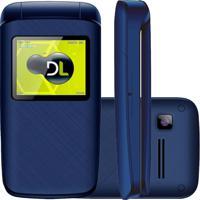 Celular Dl Yc335 Flip Dual Chip Desbloqueado Azul
