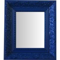 Espelho Moldura Rococó Fundo 16434 Azul Art Shop
