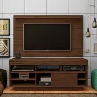 Rack Com Painel Para Tv 32 Polegadas Roma Amêndoa 140 Cm