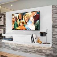 Painel Para Tv Até 50 Polegadas Nath Branco 160 Cm