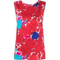 P.A.R.O.S.H. Blusa Com Estampa Floral - Vermelho