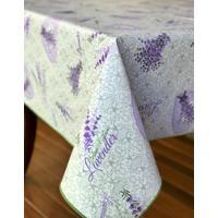 "Toalha De Mesa Impermeã¡Vel Retangular 1.40X3.00M 10 Lugares ""Lavender Botanical"" - Branco/Lilã¡S/Verde - Dafiti"