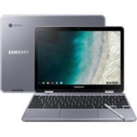 """Notebook Samsumg, Intel Celeron 3965Y, 4Gb, 32Gb, Tela De 12,3"""", Intel Hd Graphics 615 Cinza, Chromebook - Xe521Qabad1Br"""