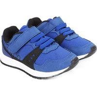 Tênis Infantil Klin Baby Walk Masculino - Masculino-Azul Royal+Preto