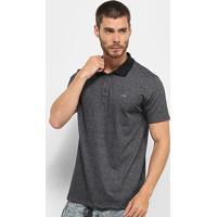 Camisa Polo Wg Logo Masculina - Masculino-Preto