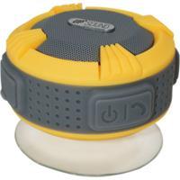 Caixa De Som Upsound Bluetooth A Prova Dágua Aqua Amarelo E Cinza