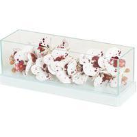 Floreira Espelhada Branca Cachepot Para Centro De Mesa Cr Vidros