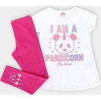Conjunto Infantil Brandili Pandacórnio Feminino - Feminino