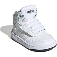 Tênis Infantil Adidas Hoops Mid 2.0 - Unissex-Branco