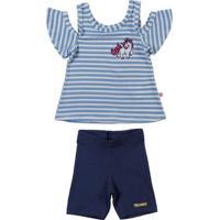 Conjunto Infantil Para Menina - Azul